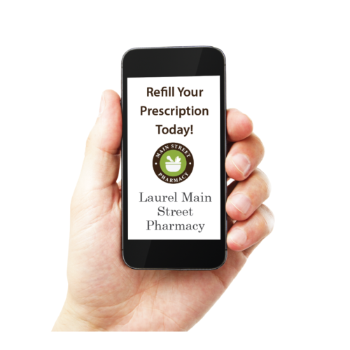 Mobile phone with Refill your prescription